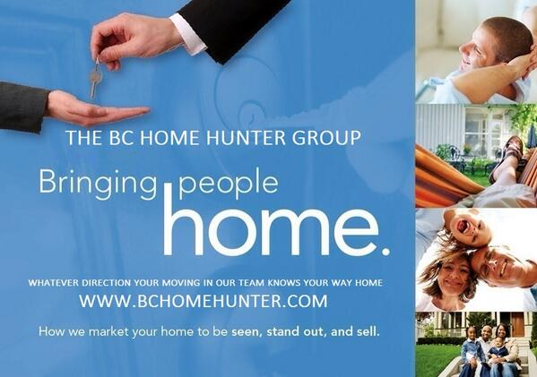 THE BC HOME HUNTER GROUP REAL ESTATE TEAM Your Urban & Suburban Real Estate Experts  If your a Metro Vancouver, Fraser Valley, BC Home Hunter you should seriously consider signing up for our new home buyers program!  Sign up today for our exclusive BCHHG Insider's Club where you will receive:  ACCESS to upcoming developments before VIP agents and the public Choice of floor plans and LOWEST pricing Lawyer review of your Agreement of Purchase and Sale at no charge Our monthly BCHH Truth About Real Estate newsletter on insider info for upcoming projects and market report. 0$ Assignment fee at any project we represent Caps on development levies at any project we represent Our exclusive BCHH Concierge Service throughout the entire process!  Just call or email our sales team at THE BC HOME HUNTER GROUP any time to register today, 604-767-6736  WWW.BCHOMEHUNTER.COM WWW.VANCOUVERHOMEHUNTER.COM WWW.FRASERVALLEYHOMEHUNTER.COM