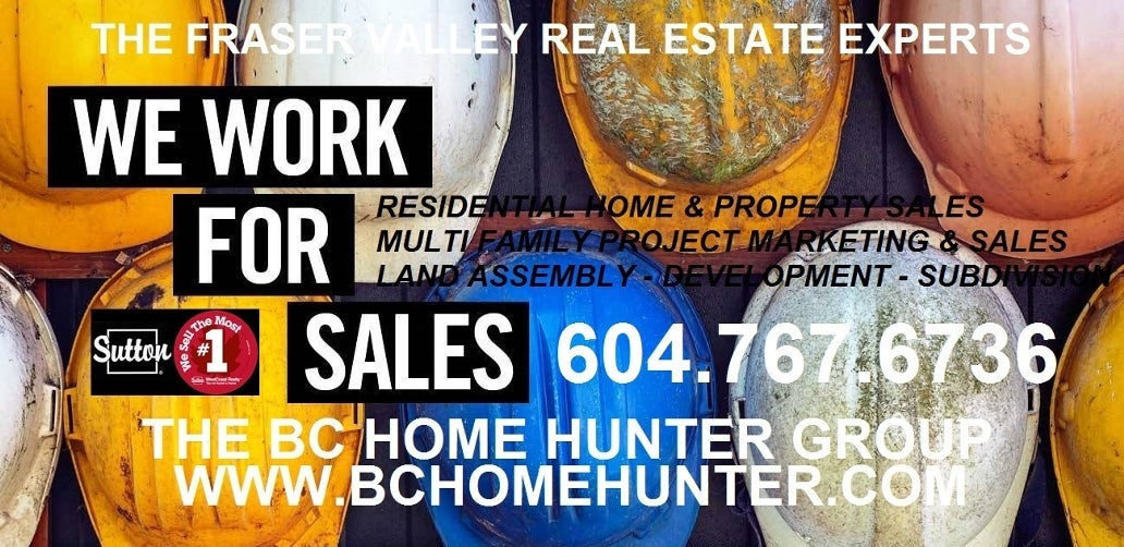 THE BC HOME HUNTER GROUP REAL ESTATE TEAM FRASER VALLEY METRO VANCOUVER SURREY LANGLEY WHITE ROCK CLOVERDALE MAPLE RIDGE CHILLIWACK PITT MEADOWS RICHMOND ACREAGE AGRICULTURAL SUBDIVIDING DEVELOPMENT